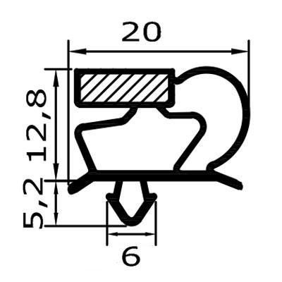 Eco-Dichtung-Profil-9013-Steckdichtung-Kühlschrankdichtung-KühlpultDichtungen-Gastrodichtungen-Kühlpult.Laden.Dichtung-Wien