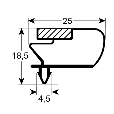 Eco-Dichtung-Profil-9014-Steckdichtung-Kühlschrankdichtung-KühlpultDichtungen-Gastrodichtungen-Kühlpult.Laden.Dichtung-Wien