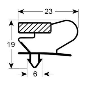 Eco-Dichtung-Profil-9015-Steckdichtung-Kühlschrankdichtung-Kühlpult-Dichtungen-Gastrodichtungen-Kühlpult.Laden.Dichtung-Wien