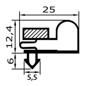Eco-Dichtung-Profil-9019-Steckdichtung-Kühlschrankdichtung-KühlpultDichtungen-Gastrodichtungen-Kühlpult.Laden.Dichtung-Wien