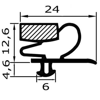 Eco-Dichtung-Profil-9020-Steckdichtung-Kühlschrankdichtung-KühlpultDichtungen-Gastrodichtungen-Kühlpult.Laden.Dichtung-Wien