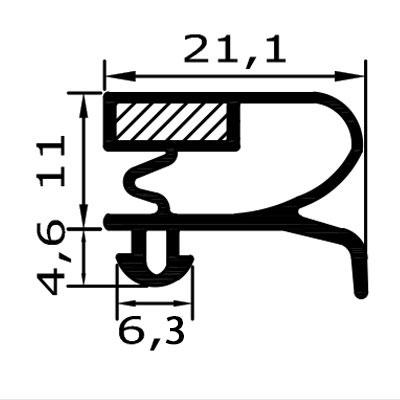 Eco-Dichtung-Profil-9021-Steckdichtung-Kühlschrankdichtung-KühlpultDichtungen-Gastrodichtungen-Kühlpult.Laden.Dichtung-Wien