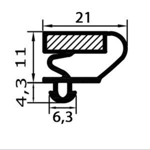 Eco-Dichtung-Profil-9022-Steckdichtung-Kühlschrankdichtung-KühlpultDichtungen-Gastrodichtungen-Kühlpult.Laden.Dichtung-Wien