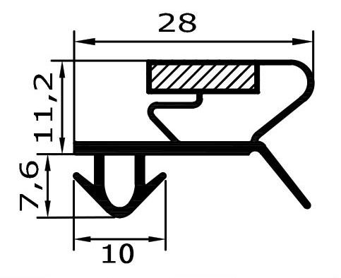Eco-Dichtung-Profil-9028-Steckdichtung-Kühlschrankdichtung-KühlpultDichtungen-Gastrodichtungen-Kühlpult.Laden.Dichtung-Wien