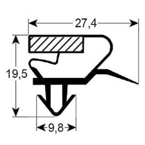 Eco-Dichtung-Profil-9029-Steckdichtung-Kühlschrankdichtung-Kühlpult-Dichtungen-Gastrodichtungen-Kühlpult.Laden.Dichtung-Wien