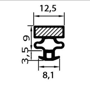 Eco-Dichtung-Profil-9030-Steckdichtung-Kühlschrankdichtung-KühlpultDichtungen-Gastrodichtungen-Kühlpult.Laden.Dichtung-Wien