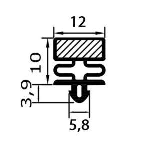 Eco-Dichtung-Profil-9032-Steckdichtung-Kühlschrankdichtung-KühlpultDichtungen-Gastrodichtungen-Kühlpult.Laden.Dichtung-Wien
