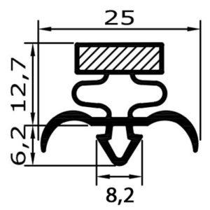 Eco-Dichtung-Profil-9034-Steckdichtung-Kühlschrankdichtung-KühlpultDichtungen-Gastrodichtungen-Kühlpult.Laden.Dichtung-Wien