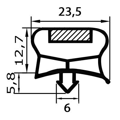 Eco-Dichtung-Profil-9036-Steckdichtung-Kühlschrankdichtung-KühlpultDichtungen-Gastrodichtungen-Kühlpult.Laden.Dichtung-Wien