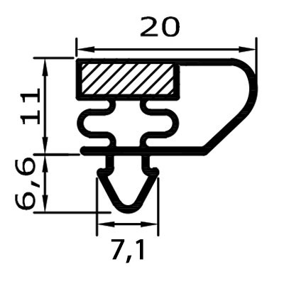 Eco-Dichtung-Profil-9039-Steckdichtung-Kühlschrankdichtung-KühlpultDichtungen-Gastrodichtungen-Kühlpult.Laden.Dichtung-Wien