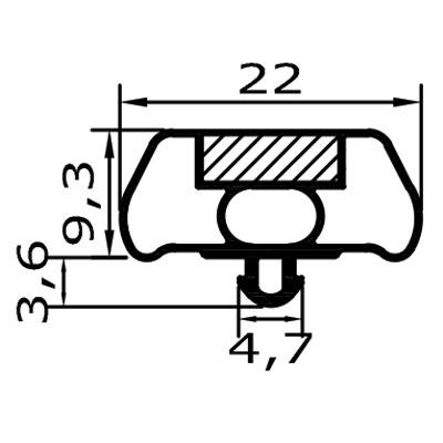 Eco-Dichtung-Profil-9040-Steckdichtung-Kühlschrankdichtung-KühlpultDichtungen-Gastrodichtungen-Kühlpult.Laden.Dichtung-Wien