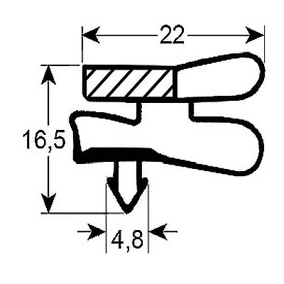 Eco-Dichtung-Profil-9051-Steckdichtung-Kühlschrankdichtung-Kühlpult-Dichtungen-Gastrodichtungen-Kühlpult.Laden.Dichtung-Wien
