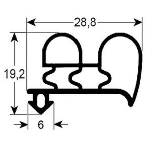 Eco-Dichtung-Profil-9060-Steckdichtung-Kühlschrankdichtung-Kühlpult-Dichtungen-Gastrodichtungen-Kühlpult.Laden.Dichtung-Wien