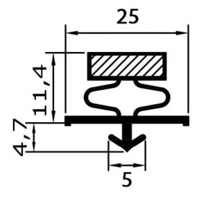 Eco-Dichtung-Profil-9074-Steckdichtung-Kühlschrankdichtung-KühlpultDichtungen-Gastrodichtungen-Kühlpult.Laden.Dichtung-Wien