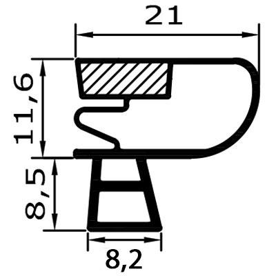 Eco-Dichtung-Profil-9090-Steckdichtung-Kühlschrankdichtung-KühlpultDichtungen-Gastrodichtungen-Kühlpult.Laden.Dichtung-Wien