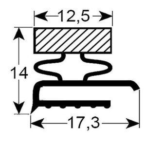 Eco-Dichtung-Profil-9103-Schraubdichtung-Kühlschrankdichtung-Kühlpult-Dichtungen-Gastrodichtungen-Kühlpult.Laden.Dichtung-Wien