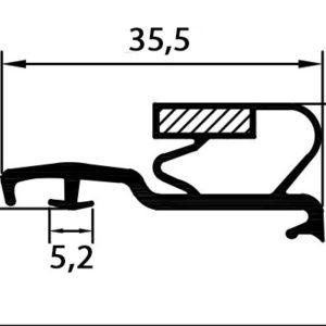 Eco-Dichtung-Profil-9105S1-Steckdichtung-Kühlschrankdichtung-KühlpultDichtungen-Gastrodichtungen-Kühlpult.Laden.Dichtung-Wien