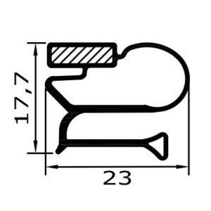 Eco-Dichtung-Profil-9106-Schraubdichtung-Kühlschrankdichtung-KühlpultDichtungen-Gastrodichtungen-Kühlpult.Laden.Dichtung-Wien