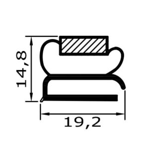 Eco-Dichtung-Profil-9120-Schraubdichtung-Kühlschrankdichtung-Kühlpult-Dichtungen-Gastrodichtungen-Kühlpult.Laden.Dichtung-Wien