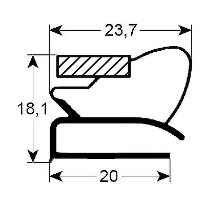 Eco-Dichtung-Profil-9121-Schraubdichtung-Kühlschrankdichtung-Kühlpult-Dichtungen-Gastrodichtungen-Kühlpult.Laden.Dichtung-Wien
