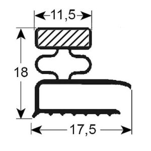 Eco-Dichtung-Profil-9126-Schraubdichtung-Kühlschrankdichtung-Kühlpult-Dichtungen-Gastrodichtungen-Kühlpult.Laden.Dichtung-Wien