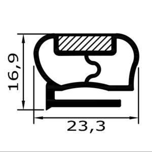 Eco-Dichtung-Profil-9133-Schraubdichtung-Kühlschrankdichtung-KühlpultDichtungen-Gastrodichtungen-Kühlpult.Laden.Dichtung-Wien