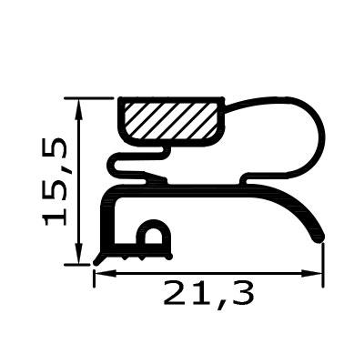 Eco-Dichtung-Profil-9218-Schraubdichtung-Kühlschrankdichtung-Kühlpult-Dichtungen-Gastrodichtungen-Kühlpult.Laden.Dichtung-Wien
