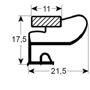 Eco-Dichtung-Profil-9225-Schraubdichtung-Kühlschrankdichtung-KühlpultDichtungen-Gastrodichtungen-Kühlpult.Laden.Dichtung-Wien