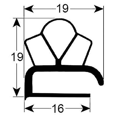 Eco-Dichtung-Profil-9303-Schraubdichtung-Kühlschrankdichtung-Kühlpult-Dichtungen-Gastrodichtungen-Kühlpult.Laden.Dichtung-Wien