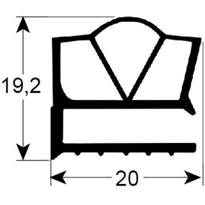 Eco-Dichtung-Profil-9313-Schraubdichtung-Kühlschrankdichtung-Kühlpult-Dichtungen-Gastrodichtungen-Kühlpult.Laden.Dichtung-Wien
