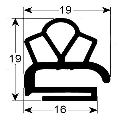 Eco-Dichtung-Profil-9316-Schraubdichtung-Kühlschrankdichtung-Kühlpult-Dichtungen-Gastrodichtungen-Kühlpult.Laden.Dichtung-Wien