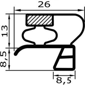 Eco-Dichtung-Profil-9501-Steckdichtung-Kühlschrankdichtung-KühlpultDichtungen-Gastrodichtungen-Kühlpult.Laden.Dichtung-Wien