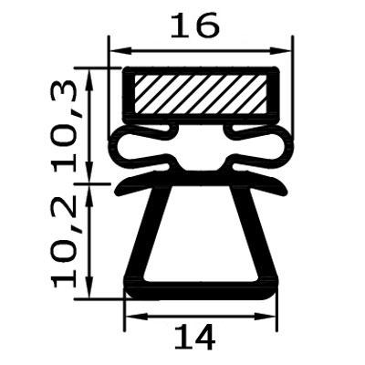 Eco-Dichtung-Profil-9503-Steckdichtung-Kühlschrankdichtung-KühlpultDichtungen-Gastrodichtungen-Kühlpult.Laden.Dichtung-Wien