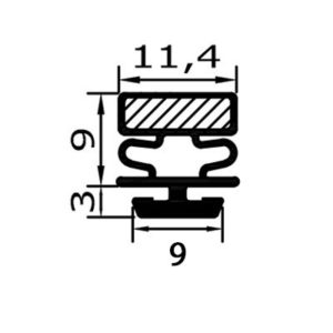 Eco-Dichtung-Profil-9507-Steckdichtung-Kühlschrankdichtung-KühlpultDichtungen-Gastrodichtungen-Kühlpult.Laden.Dichtung-Wien