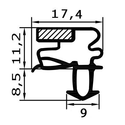Eco-Dichtung-Profil-9511-Steckdichtung-Kühlschrankdichtung-KühlpultDichtungen-Gastrodichtungen-Kühlpult.Laden.Dichtung-Wien