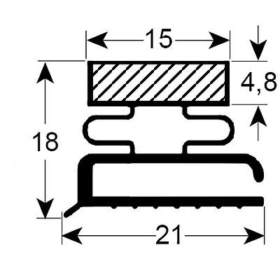 Eco-Dichtung-Profil-9107-Schraubdichtung-Kühlschrankdichtung-Kühlpult-Dichtungen-Gastrodichtungen-Kühlpult.Laden.Dichtung-Wien