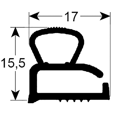 Eco-Dichtung-Profil-9310-Schraubdichtung-Kühlschrankdichtung-Kühlpult-Dichtungen-Gastrodichtungen-Kühlpult.Laden.Dichtung-Wien