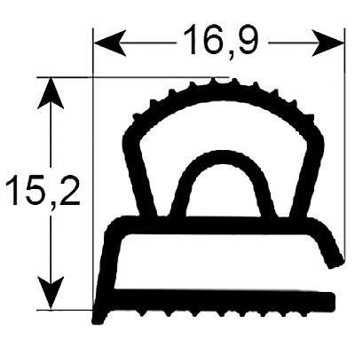 Eco-Dichtung-Profil-9311-Schraubdichtung-Kühlschrankdichtung-Kühlpult-Dichtungen-Gastrodichtungen-Kühlpult.Laden.Dichtung-Wien