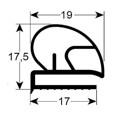 Eco-Dichtung-Profil-9314-Schraubdichtung-Kühlschrankdichtung-Kühlpult-Dichtungen-Gastrodichtungen-Kühlpult.Laden.Dichtung-Wien